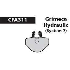 CFA 311 Grimeca 7 Hyd Brake Pads (Sintered)