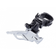 FD-M611 Deore 10-speed triple front derailleur, conventional swing, dual-pull