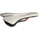 Griffon saddle carbon rails, 132 mm wide, anatomic fit, white / black